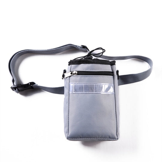 grey reflective hands free leashes for running