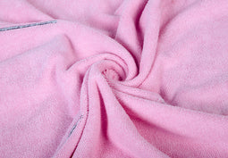 pink microfiber dog towel