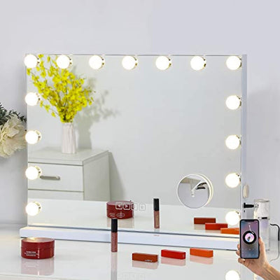 Hollywood Touch Screen Mirror with Bluetooth Speaker - WINK EYELASH BAR & MAKEUP STUDIO