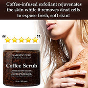Coffee Scrub - All Natural Body Scrub for Skin Care, Stretch Marks, Acne & Cellulite - WINK EYELASH BAR & MAKEUP STUDIO