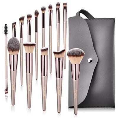 Pro Series Makeup Brushes, With Travel Case  (14pcs) - WINK EYELASH BAR & MAKEUP STUDIO