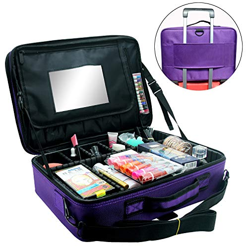 Makeup Train Case with Adjustable Dividers - WINK EYELASH BAR & MAKEUP STUDIO