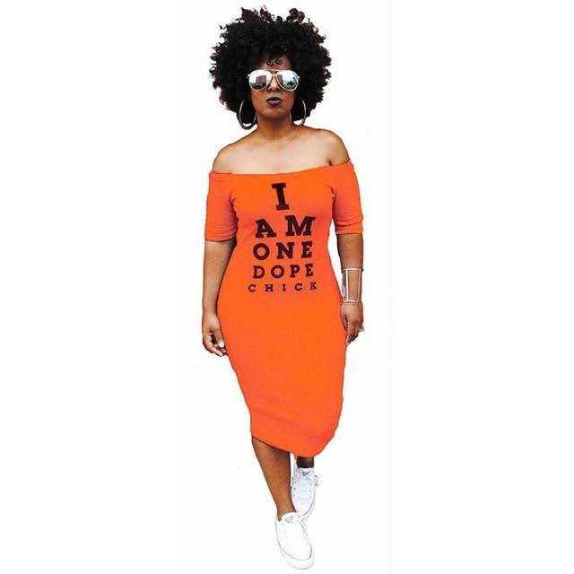 I am Dope Graphic T-Shirt Dress - WINK EYELASH BAR & MAKEUP STUDIO