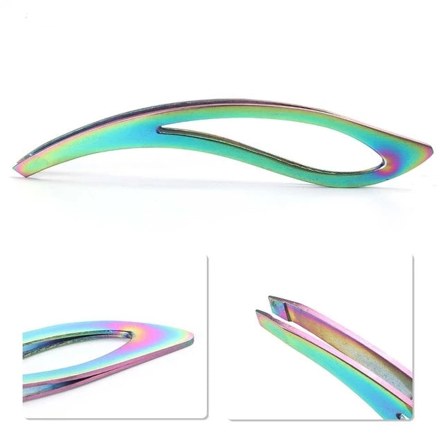 Stainless Steel Rainbow Tweezers & Grooming Tools - WINK EYELASH BAR & MAKEUP STUDIO