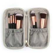 Travel Makeup Brush Set w/ Marble Pencil Case Protector - WINK EYELASH BAR & MAKEUP STUDIO