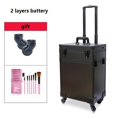 Professional Makeup Artist  Beauty Trolley w/LED Light Mirror - WINK EYELASH BAR & MAKEUP STUDIO