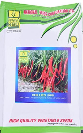 NSC CHILLI(मिर्च)-Pusa Jwala-50gm( This Price include Procurement & Handling )