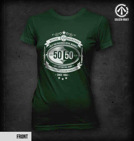 Official 'Team 50/50' T-shirt 2014 [Womens - Bottle Green]