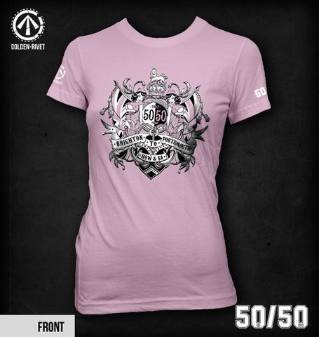 Official 'Team 50/50' T-shirt 2013 [Womens - Light Pink]