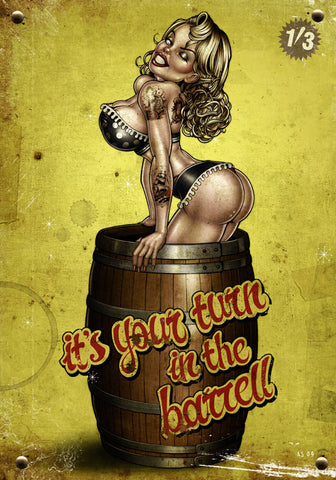 'It's your turn in the Barrel!' Giclee Print