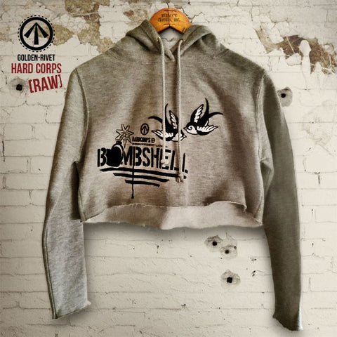 'Bombshell' [Raw] Cropped Hoodie [Ladies]