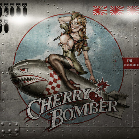 'Cherry Bomber' Metal Print