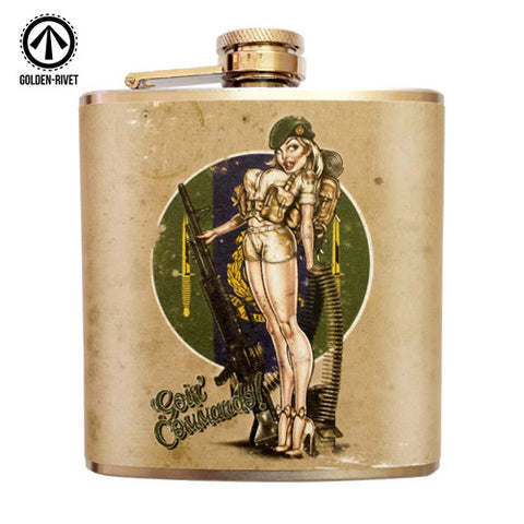 'Goin' Commando!' 6oz Stainless Steel Hip Flask