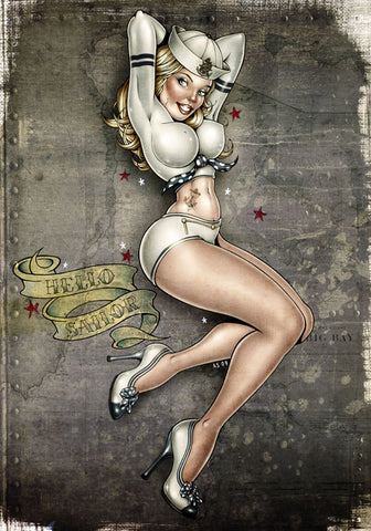 'Hello Sailor' Giclee Print