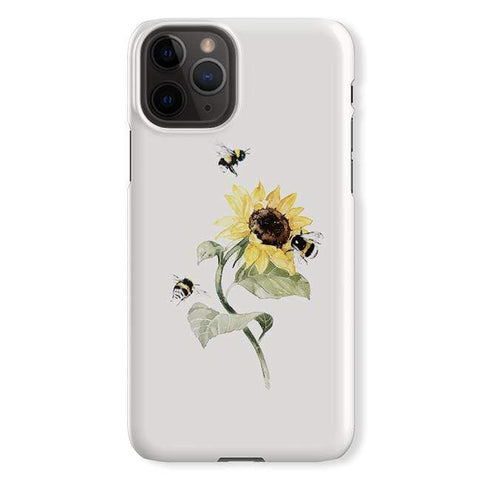 Brigitte May Sunflower Bees iPhone Samsung Galaxy Phone Case The Dairy