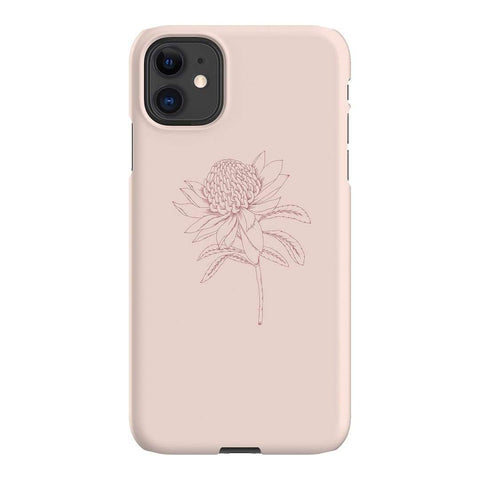 Typoflora Blush Waratah iPhone Samsung Galaxy Phone Case The Dairy