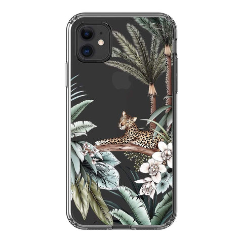 Typoflora Leopard Clear Case iPhone Samsung Galaxy Phone Case The Dairy