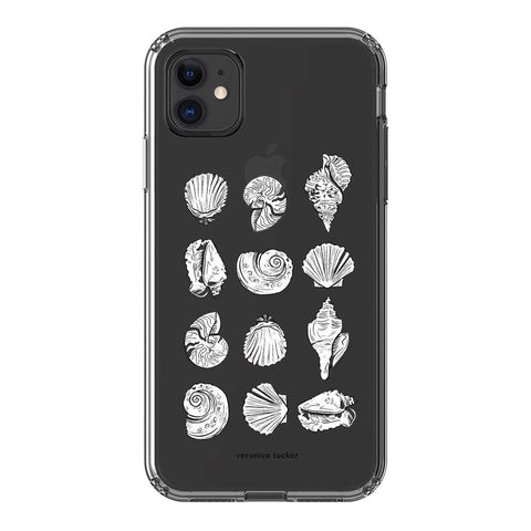 Veronica Tucker Seashells Clear Case iPhone Samsung Galaxy Phone Case The Dairy