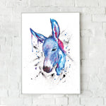 Donkey Fine Art Print - perfect for equine and animal lovers