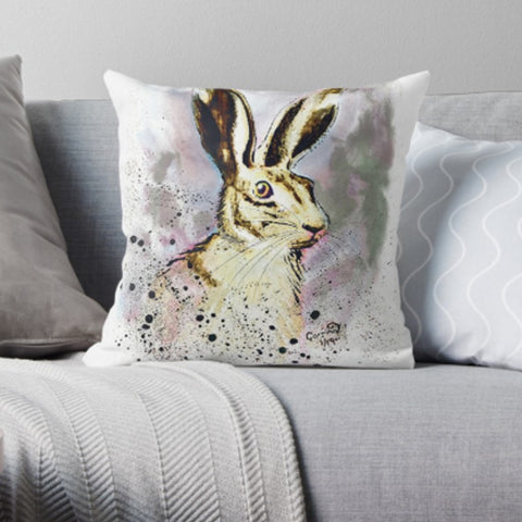 Luxury Feel Hare Faux Suede Cushion / Pillow