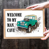 Landrover Fine Art Print - perfect addition for his man cave