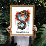 Ouroboros Fine Art Print - perfect for the dragon and tattoo lover
