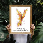 Phoenix Fine Art Print - perfect for the courageous warrior