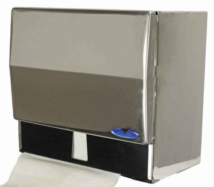 FROST 102 COMBINATION ROLL & SINGLE FOLD TOWEL DISPENSER - CHROME