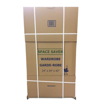 Space Saver Wardrobe box w/ Bar; 24