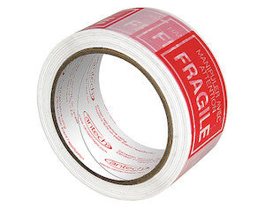 Fragile Printed Tape - The Box Guys - Packing Supplies Toronto, Moving Services Toronto, Boxes, Bubble Wrap, Tape, Paper.