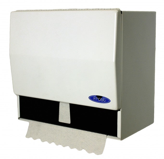 FROST 101 COMBINATION ROLL&SINGLE FOLD TOWEL DISPENSER. WHITE.