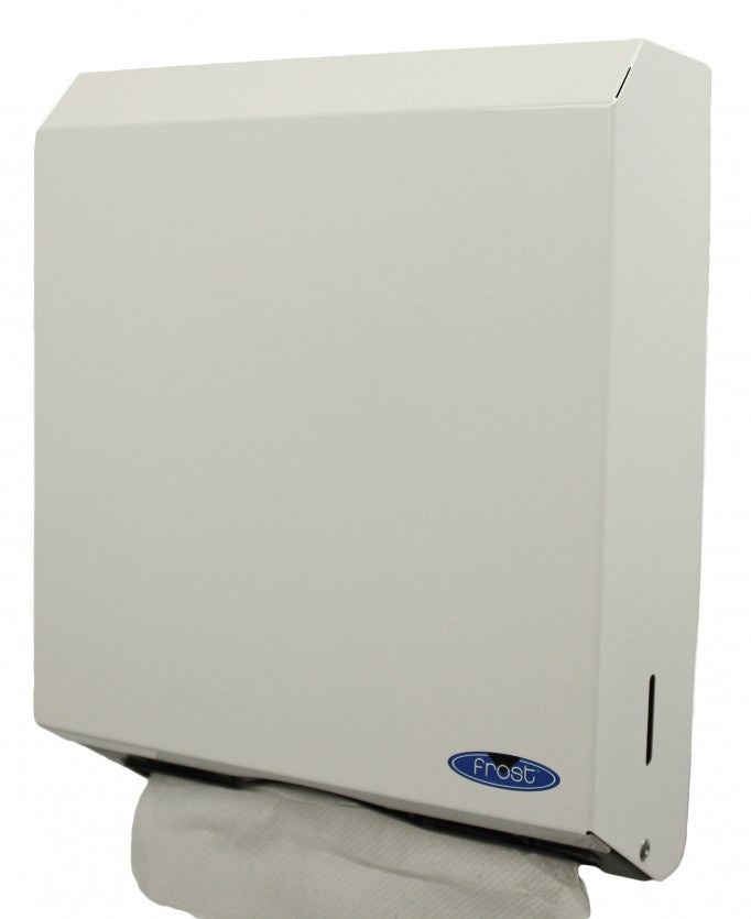 FROST 105 MULTI FOLD TOWEL DISPENSER . WHITE. WITH LOCK