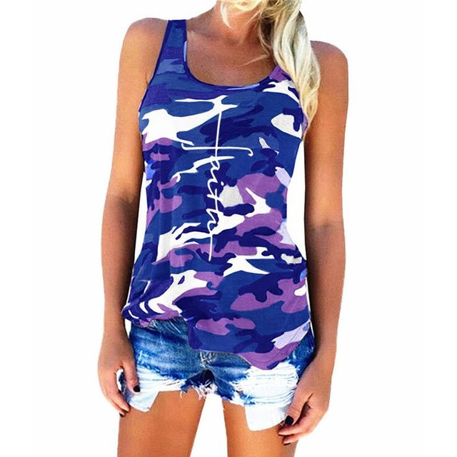Faith Camo Summer Tank