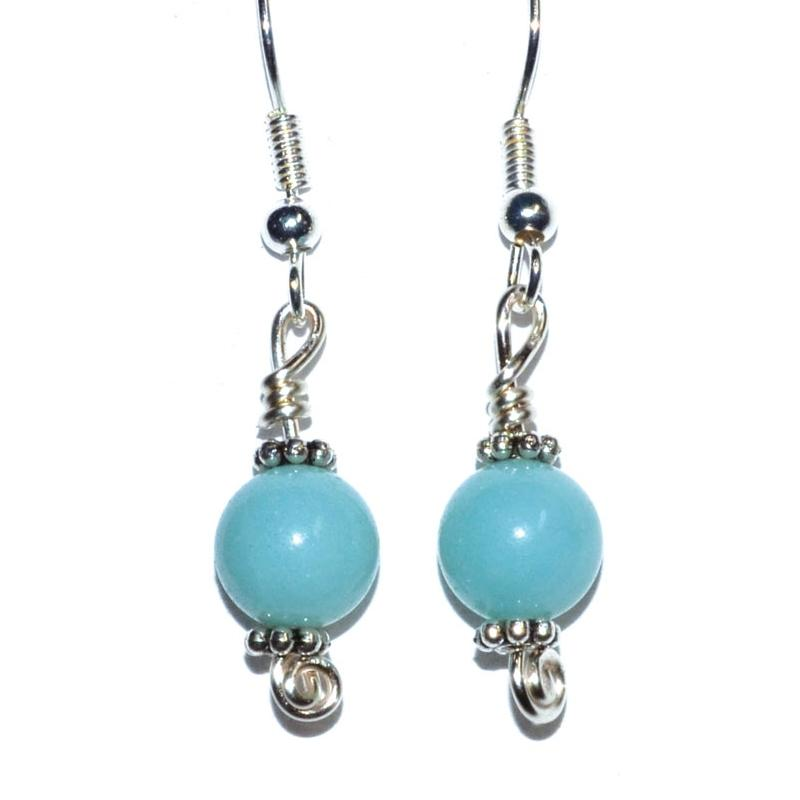 Amazonite Dangle Earrings - Tarah Co.
