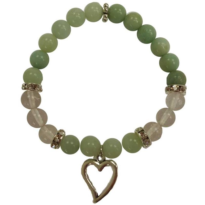 Amazonite Heart Bracelet - Tarah Co.