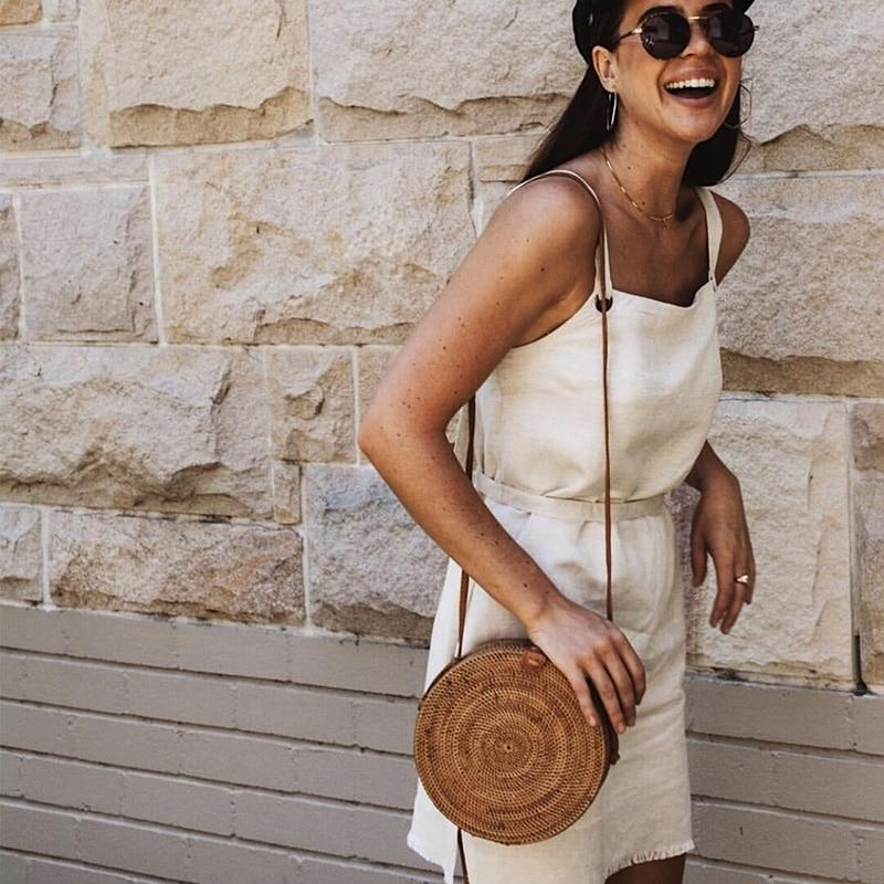 Beach Please Rattan Crossbody Bag - Tarah Co.