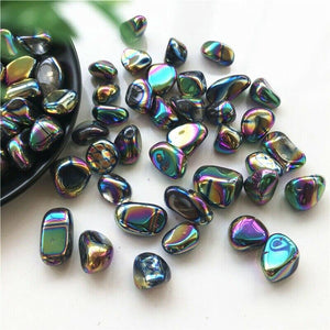 Black Rainbow Electroplated Tumblestones - Tarah Co.