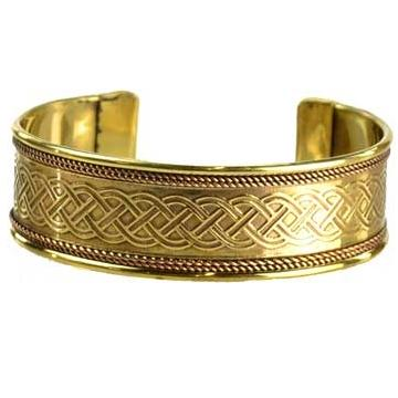Celtic Knot Copper & Brass Bracelet - Tarah Co.