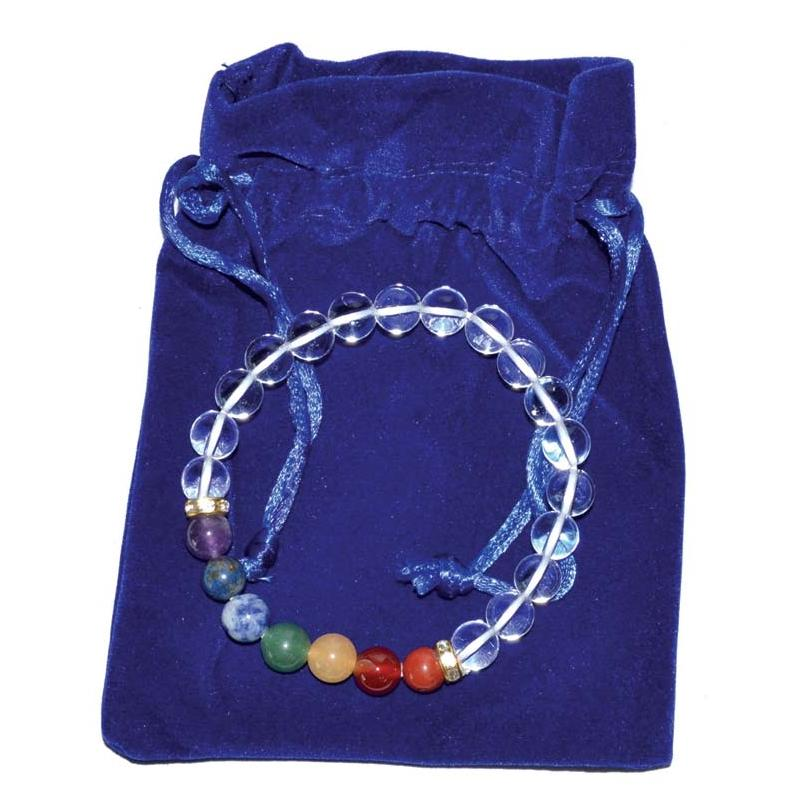 Crown Clear Chakra Bead Bracelet - Tarah Co.