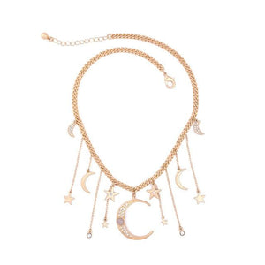 Crystal Moon Necklace - Tarah Co.