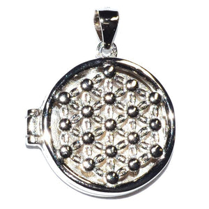 Flower of Life Sterling Locket Pendant - Tarah Co.