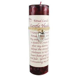 Gentle Healing Pillar Candle with Amulet - Tarah Co.