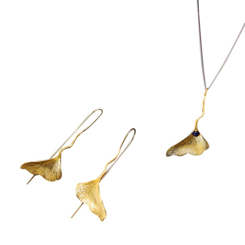 Ginkgo Leaf Jewelry Set - Tarah Co.