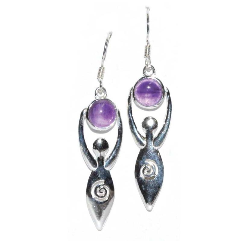 Goddess Amethyst Earrings - Tarah Co.