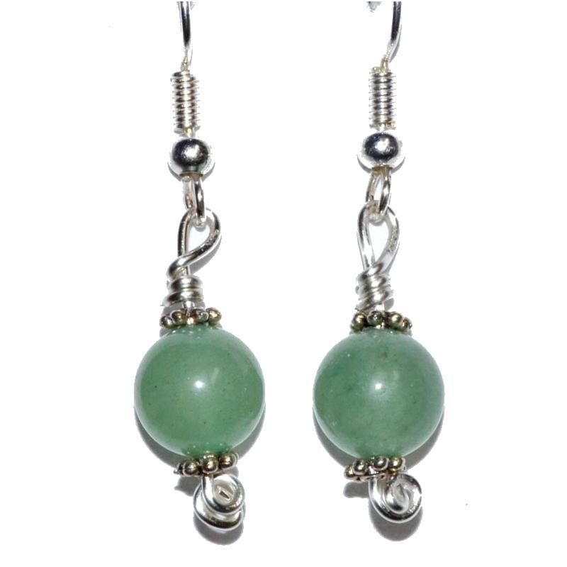 Green Aventurine Dangle Earrings - Tarah Co.
