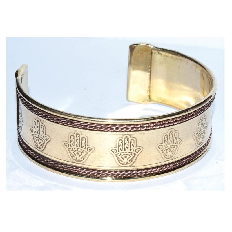 Hasma Hand Copper & Brass Bracelet - Tarah Co.
