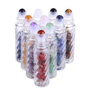 Healing Crystals Essential Oil Roller Bottles - Tarah Co.
