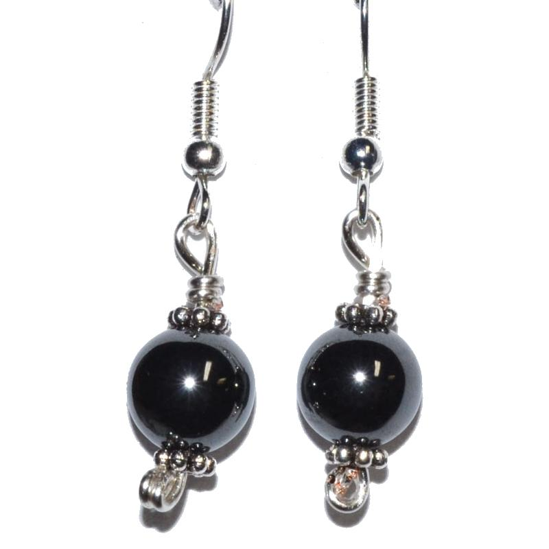 Hematite Dangle Earrings - Tarah Co.