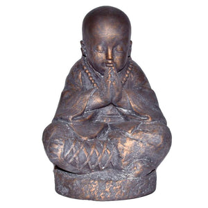 "Large Praying Monk Statue, 12 1/2"" - TARAH CO."