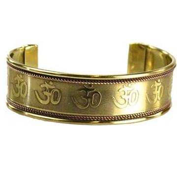 Om Engraved Copper & Brass Bracelet - Tarah Co.